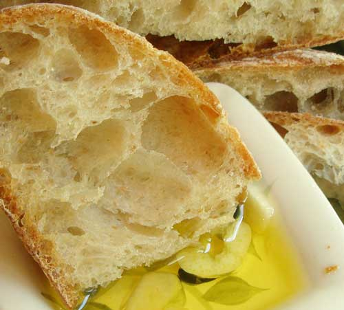 Ciabatta with olive oil
