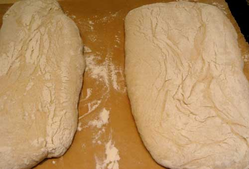Ciabatta ready to bake