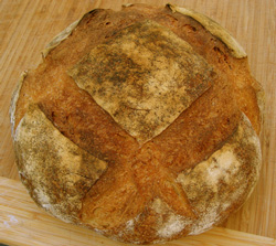 Sourdough baked in Cuisinart Brick Oven