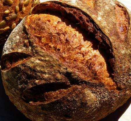 Sweet Potato Sourdough with Pumpkin Seeds