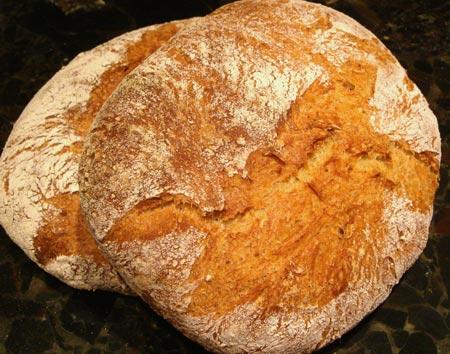 Tender potato bread - two boules
