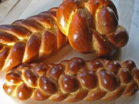 Saffron Challah braid and rosette