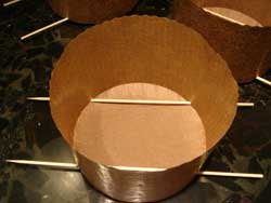skewered panettone molds