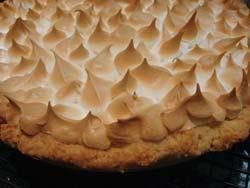 lemon meringue pie closeup