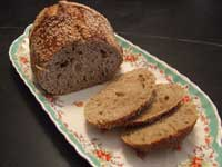 Almost No-Knead Chocolate Stout Bread on Big Black Dog