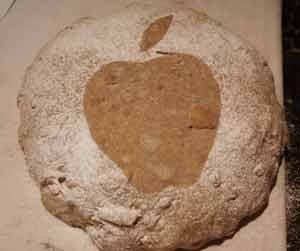 Flour-stenciled loaf