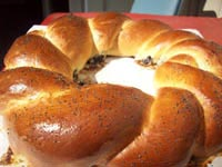 Onion and Poppyseed Purim Ring on The Fresh Loaf