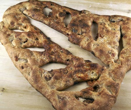 Rye Fougasse with Two Cheese Fillings