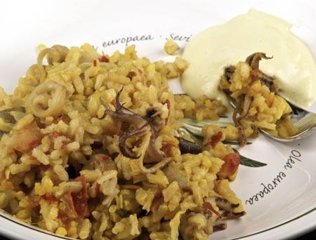rice mushrooms squid artichokes