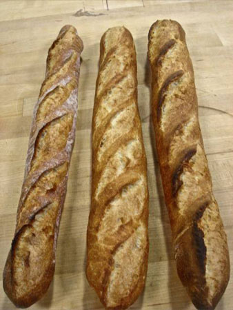 3 baguettes