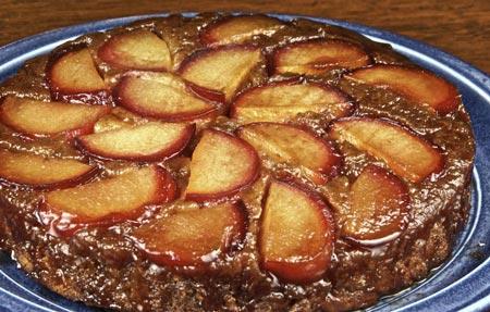 plum-ginger upside-down cake