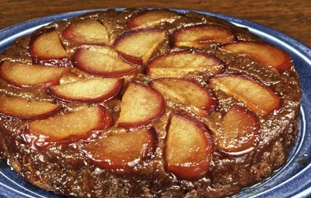 plum-ginger upside-down cake