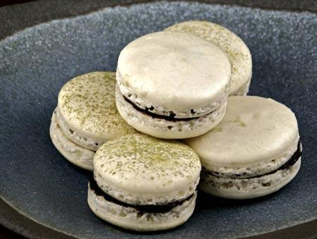 ganache-filled macarons