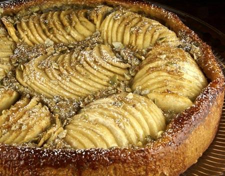 pumpkin brioche apple tart