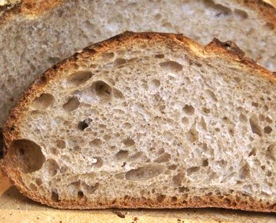 teff bread crumb