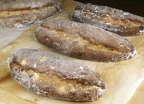  stollen with a coating of fine granulated sugar