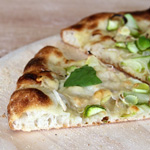 Asparagus, Green Garlic, and Leek Pizza