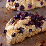 Blueberry Sourdough Scones