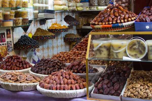 dates, figs, and other dried fruits