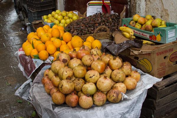 pomegranates are a pale yellow or orange color