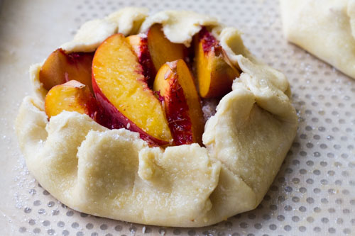 oven-ready peach galette