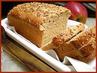 Wholewheat flaxseed and sesame bread