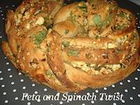 A Feta and Spinach Twist
