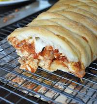 Baked chicken braid