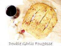 Double Garlic Fougasse