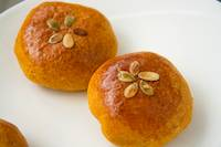 Pumpkin brioche red bean buns