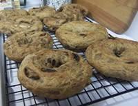 Whole Grain Cinnamon Raisin Bagels
