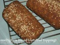 multigrain bread with oatmeal topping