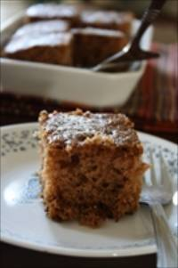 Sourdough Applesauce Spice Cake