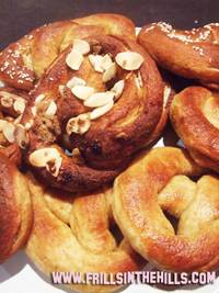 Pretzels, sweet and savoury
