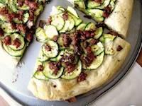 Zucchini-Sausage Pizza