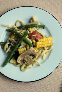 corn pasta primavera