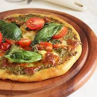Pesto Pizza With Jamie Oliver's Pizza Crust