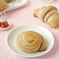 Swirls and Rolls with Red Fruit Layers