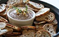 Crostini with Walnut and White Bean Dip