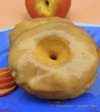 Baked Doughnuts With Honey Peach Glaze