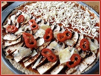 100% whole grain pizza (