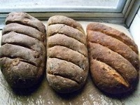 Three variations on Rye, beer & golden syrup bread