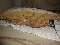 Flar Bread with Sparkling Wine and Fresh Figs