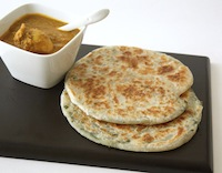 Spring Onions Paratha Bread