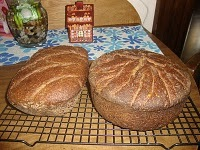 Dark bread with many seeds