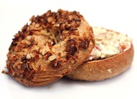 Whole Grain Sourdough Onion Bagels