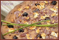 Goat Cheese Foccacia with Cherries and Shallots
