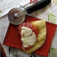 Soppressata Pizza with Fried Egg and Shasha Sauce