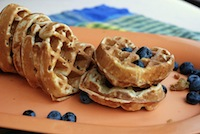 yeasted whole wheat and oatmeal waffles