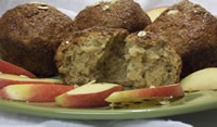 Whole Grain Maple Oatmeal Muffins
